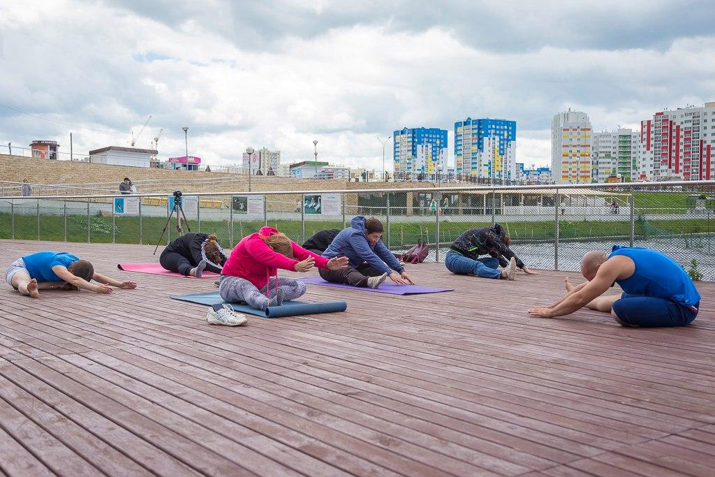 мы участвовали в йога-сессии в г.Спутнике